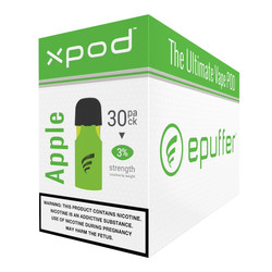 epuffer double apple xpod vape pod 30 pack