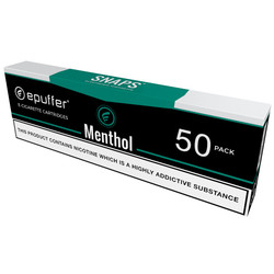 snaps ecig menthol cigarette flavour cartridges black