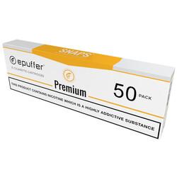 snaps ecigarette premium tobacco flavour cartridges tan